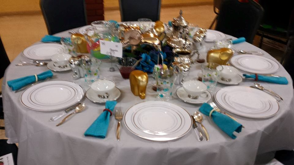 Tea & Fashion Show Table